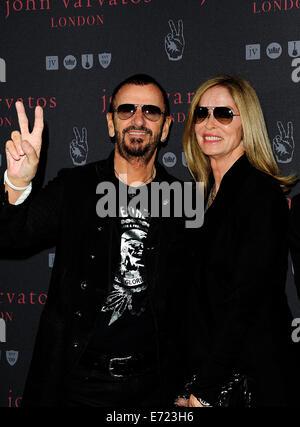 London, UK. 3. Sep, 2014. Ringo Sterne & Barbara Bach besuchen den Opaning von John Varvatos Launch ihrer europäischen - Stockfoto