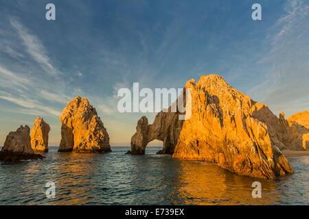 Sonnenaufgang in Endland, Cabo San Lucas, Baja California Sur, Golf von Kalifornien, Mexiko, Nordamerika - Stockfoto