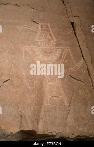 Dry Fork Canyon Rock Art, befindet sich auf McConkie Ranch, Fremont Stil aus AD 700 bis 1200 n. Chr., in der Nähe - Stockfoto