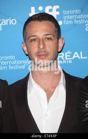 """Toronto, Kanada. 05. Sep, 2014. US-Schauspieler Jeremy Strong stellt bei dem Fototermin von """"The Judge"""" während - Stockfoto"""