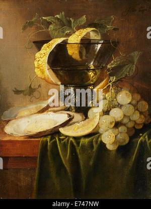 Stillleben mit Glas und Austern - von Jan Davidsz de Heem, 1640 - Stockfoto