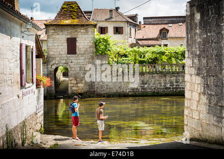 Brantôme, Perigord. Dordogne, Aquitaine, Frankreich - Stockfoto