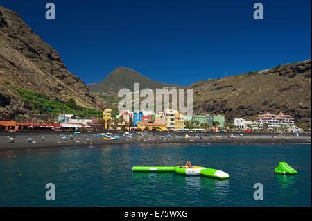 Strand, Puerto de Tazacorte, La Palma, Kanarische Inseln, Spanien - Stockfoto