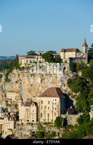 Pilgerfahrt Stadt Rocamadour, Departement Lot, Midi-Pyrénées, Frankreich - Stockfoto