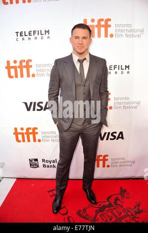 """Toronto, Ontario, Kanada. 8. Sep, 2014. Schauspieler CHANNING TATUM besucht die """"Foxcatcher""""-Premiere während der - Stockfoto"""