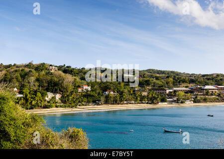 Blick vom Fort Bennett im westlichen Tobago.