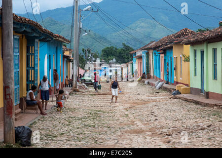 Straßenszene, Trinidad, Kuba - Stockfoto