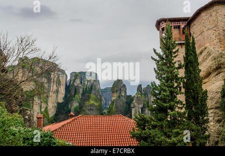 Rousanou St. Varvara Kloster in Meteora-Griechenland - Stockfoto