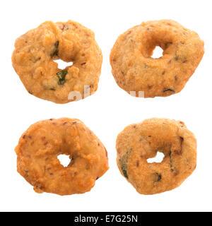 Vada ist einen herzhaften Snack aus Südindien, sehr häufig Suppen in den indischen Subkontinent und Sri Lanka, schießen - Stockfoto