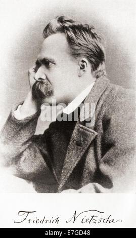 Friedrich Wilhelm Nietzsche, 1844 –1900.   Deutscher Philologe, Philosoph, Kulturkritiker, Dichter und Komponist. - Stockfoto