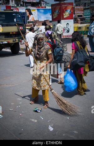 Dalit Straße von Unberührbaren Kaste Bürsten Straße in Delhi Indien - Stockfoto