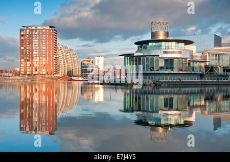 Das Lowry Centre & Theater, Salford, Greater Manchester, England, Großbritannien - Stockfoto