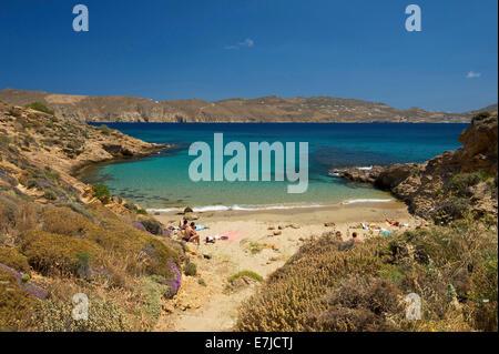 Griechenland, Europa, Cyclades, Insel, Insel, Inseln, griechische, außerhalb, Mittelmeer, Tag, niemand, Bucht von - Stockfoto