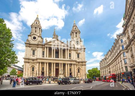 Avenue, Gebäude, Kathedrale, Stadt, London, England, St. Paul, UK, Architektur, Geschichte, Religion, Tourismus, Reisen
