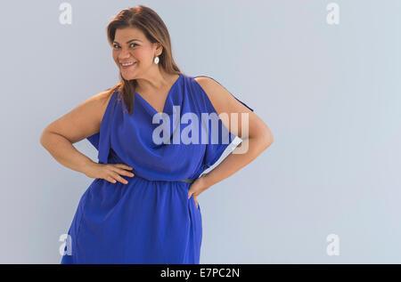 Porträt der glückliche Frau - Stockfoto