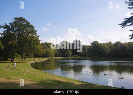 Claremont Landschaftsgärten, familiären Haus von Königin Victoria, Esher, Surrey, England, UK - Stockfoto