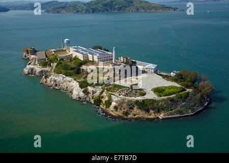 Alcatraz Insel, ehemalige maximale Hochsicherheits-Gefängnis, Bucht von San Francisco, San Francisco, Kalifornien, - Stockfoto
