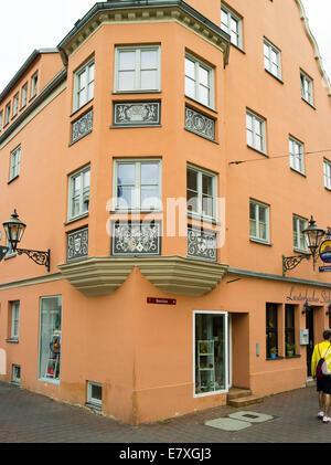 Die Fassade des Lauterbacher Stüble, Augsburg, Bayern, Deutschland - Stockfoto