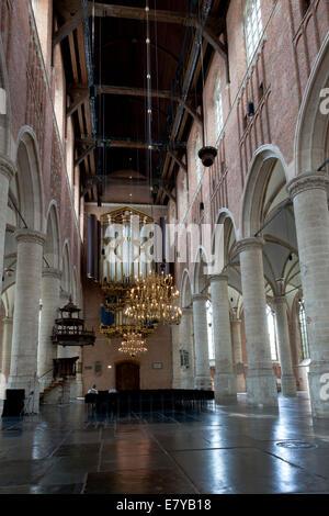 Spätgotischen Pieterskerk, St. Peterskirche, Leiden, Niederlande - Stockfoto
