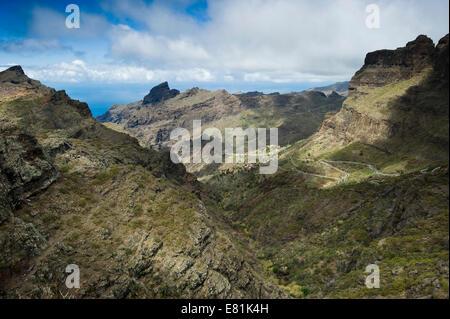 Teno-Gebirge in der Nähe von Garachico, Teneriffa, Kanarische Inseln, Spanien - Stockfoto