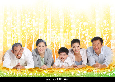 Glückliche Familie - Stockfoto