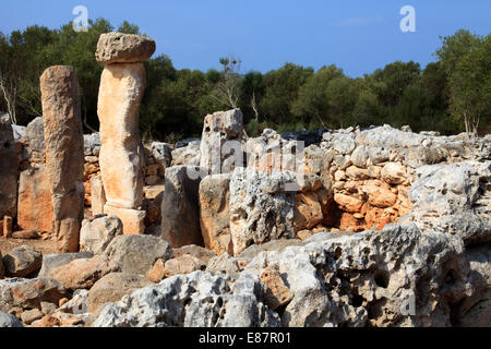Torre d ' en Galmés prähistorische Stätte, Menorca, Balearen, Spanien - Stockfoto