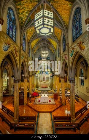 Saint Malachy's~ des Schauspielers Kapelle ~ eine Pfarrkirche der Römisch-katholischen Erzdiözese von New York. - Stockfoto