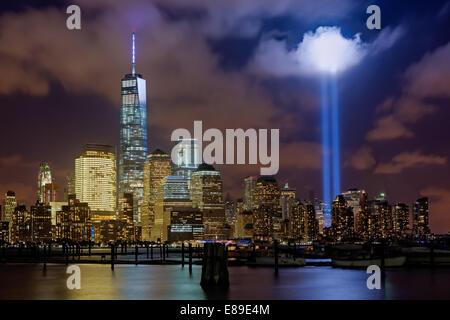 World Trade Center Tribute In Light New York City - Stockfoto