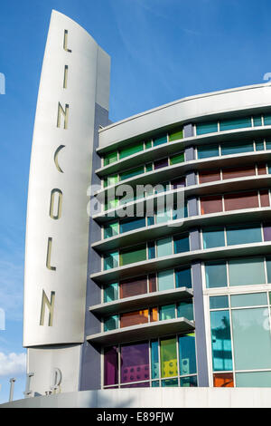 Miami Beach Florida Lincoln Road Movie Theater Theater Königliche Kinos Gebäude außen äußere Zeichen - Stockfoto