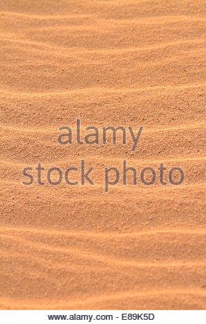 Nahaufnahme der wellige Sand - Jordanien - Stockfoto