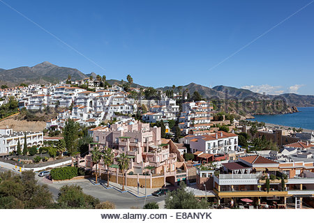 Am Meer Stadt Nerja in Andalusien, Spanien - Stockfoto