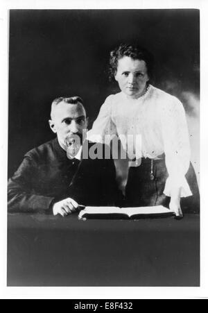 Pierre Curie (1859-1906) und Marie Sklodowska-Curie (1867-1934) Künstler: anonym - Stockfoto