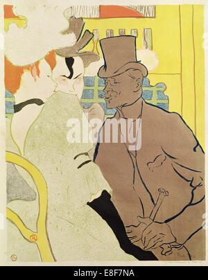 Der Engländer im Moulin Rouge. Künstler: Toulouse-Lautrec, Henri de (1864-1901) - Stockfoto