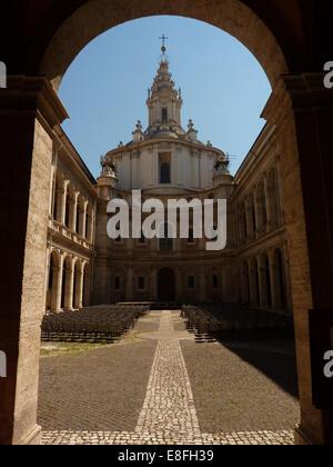 Italien, Rom, Ansicht der Kirche von Sant'Ivo Alla Sapienza - Stockfoto