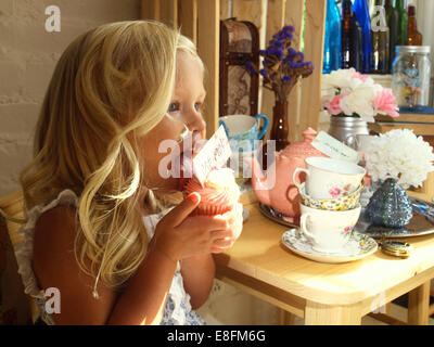 Statesville, Iredell County, North Carolina, Vereinigte Staaten von Amerika-Cupcake-Tea-Party - Stockfoto