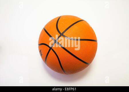 Nahaufnahme eines Basketballs - Stockfoto