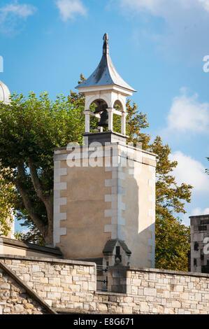 City of London, Tower of London, Detail-Glockenturm - Stockfoto