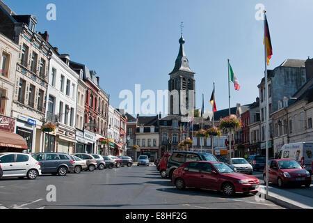 Hauptplatz, Le Cateau-Cambrésis, Abteilung Nord, Frankreich - Stockfoto