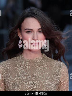 London, UK. 8. Oktober 2014. Keira Knightley besucht eine Screening The Imitation Game auf die Opening Night Gala - Stockfoto