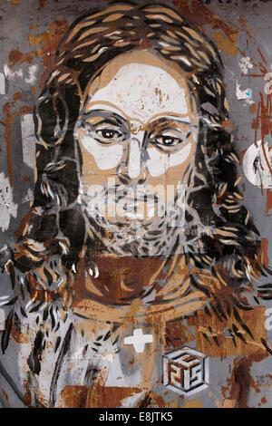 JŽsus-Christ. Street-Art. - Stockfoto