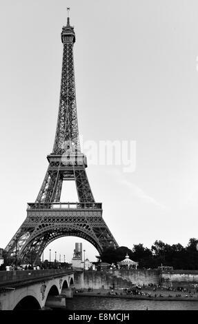 Schwarzen Eiffel - Stockfoto