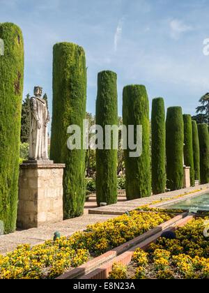 Gärten von Alcazar de Los Reyes Cristianos, Cordoba - Stockfoto