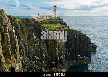 Landschaftlich Point Lighthouse, Isle Of Skye, innere Hebriden, Schottland, Vereinigtes Königreich - Stockfoto
