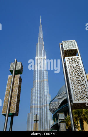 Burj Khalifa Tower in Downtown Dubai Vereinigte Arabische Emirate - Stockfoto