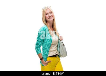 Kaukasische lächelnde Frau - Stockfoto