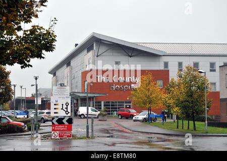 """Hereford UK 14 Oktober Wye Valley NHS Trust wurde in """"besondere Maßnahmen"""" durch die Pflege Qualität Kommission - Stockfoto"""
