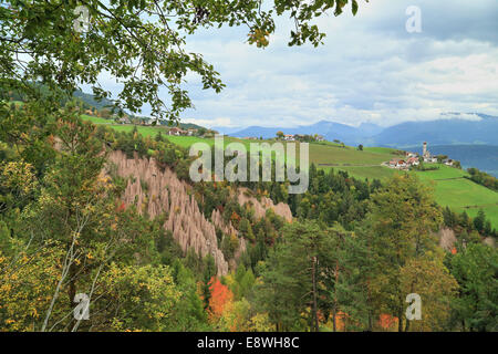 Rittner Erdpyramiden in der Nähe von Bozen/Bolzano, Italien - Stockfoto