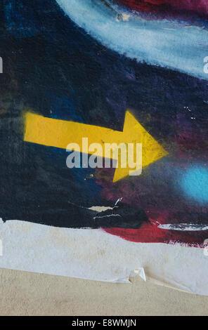 bunte abstrakte Muster auf die Wand gemalt - Stockfoto