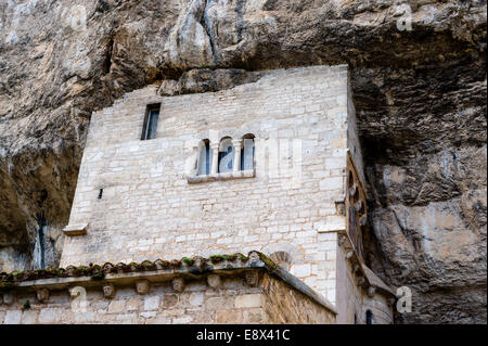 Frankreich, Rocamadour.  Ein beliebtes Ziel für Pilger und Touristen. - Stockfoto
