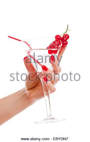Frau Hand mit cocktail - Stockfoto